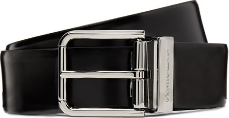 Dolce & Gabbana 3.5cm Black Polished-Leather Belt