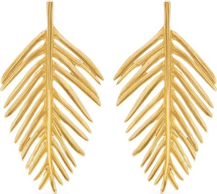 Oscar De La Renta Palm leaf-drop earrings