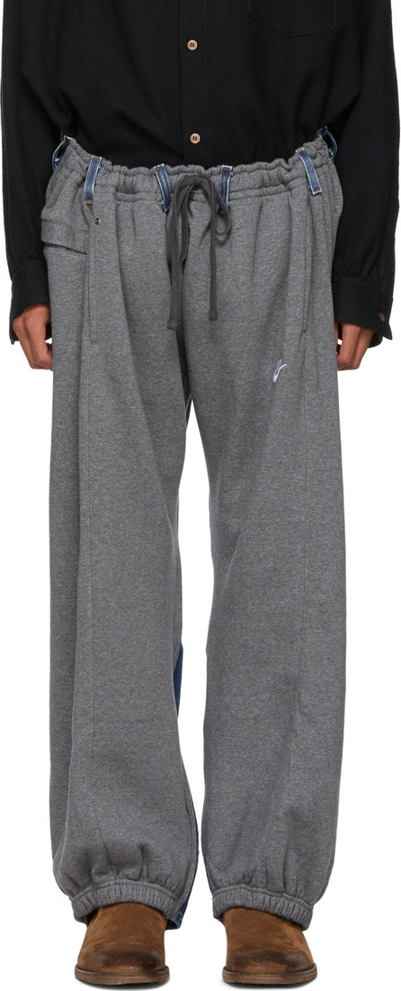 Bless Grey & Indigo Reconstructed Overjogging Lounge Pants