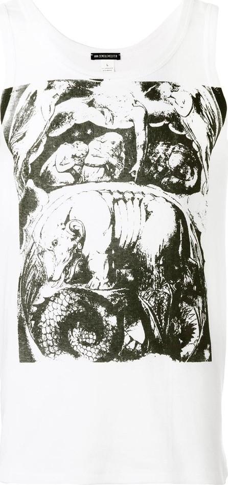 Ann Demeulemeester Abstract print tank top