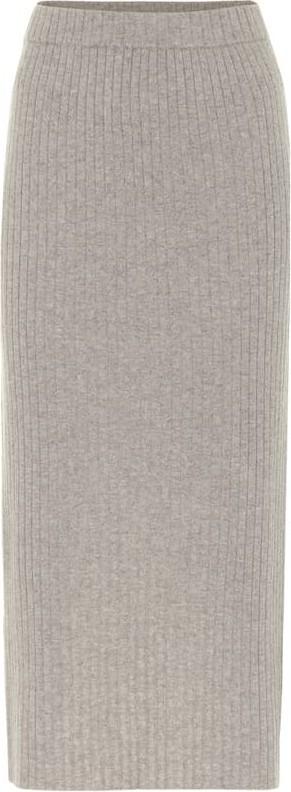 Jardin des Orangers Ribbed-knit cashmere skirt