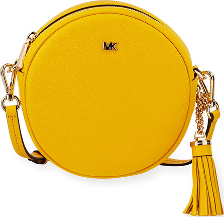 MICHAEL MICHAEL KORS Canteen Medium Round Leather Crossbody Bag - Golden Hardware