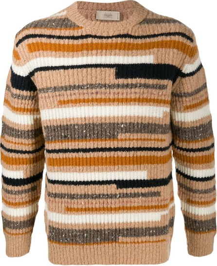 Maison Flaneur Striped knit jumper