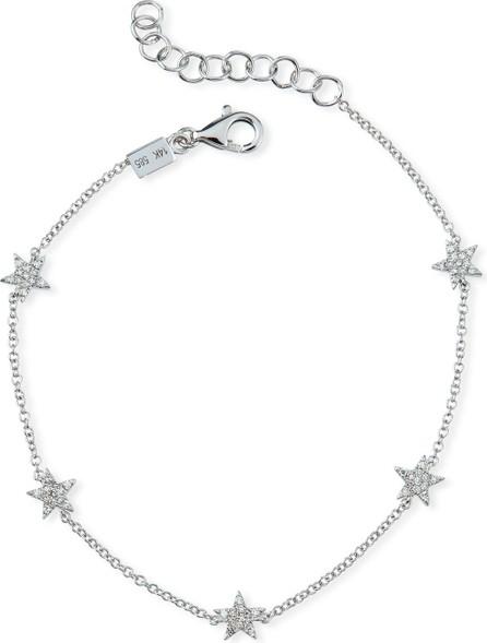 EF Collection 5 Mini Diamond Star Bracelet