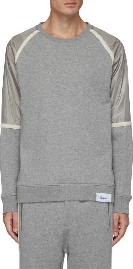 3.1 Phillip Lim Metallic nylon panel sweatshirt