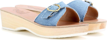 Ancient Greek Sandals Filia Sabot denim platform slip-on sandals