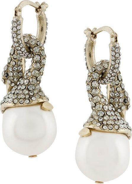 Lanvin crystal-embellished swan earrings