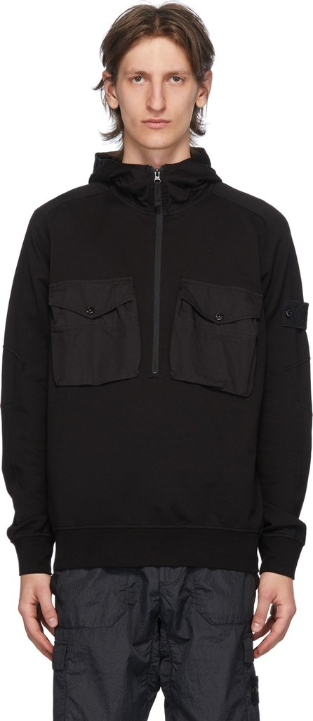 Stone Island Black Chest Pocket Hoodie
