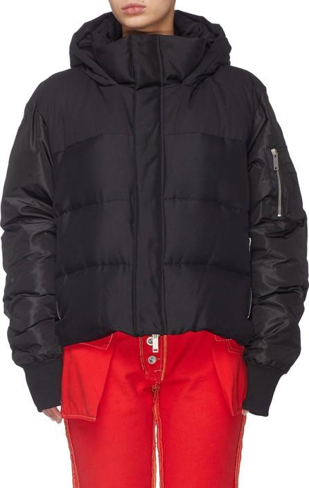 Ben Taverniti Unravel Project Silk habotai hooded down puffer jacket