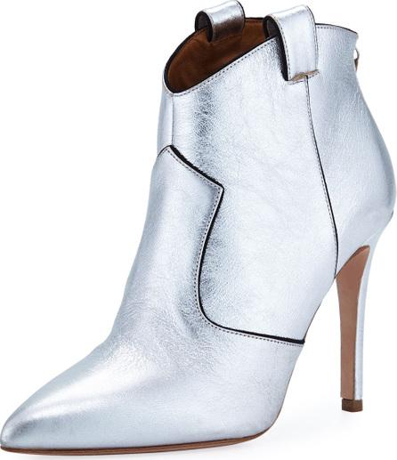 Veronica Beard Loretta Metallic Leather Western Booties