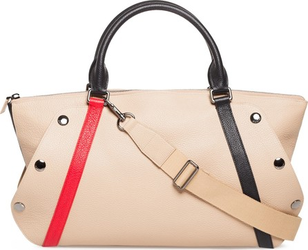 Akris Small Aimée Calfskin Convertible Satchel