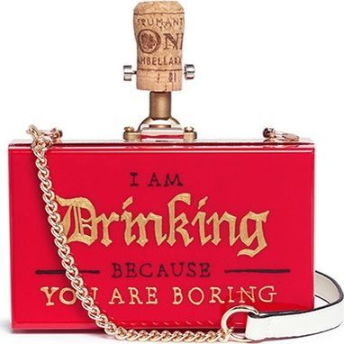 Cecilia Ma 'Uboring' champagne cork charm acrylic box clutch