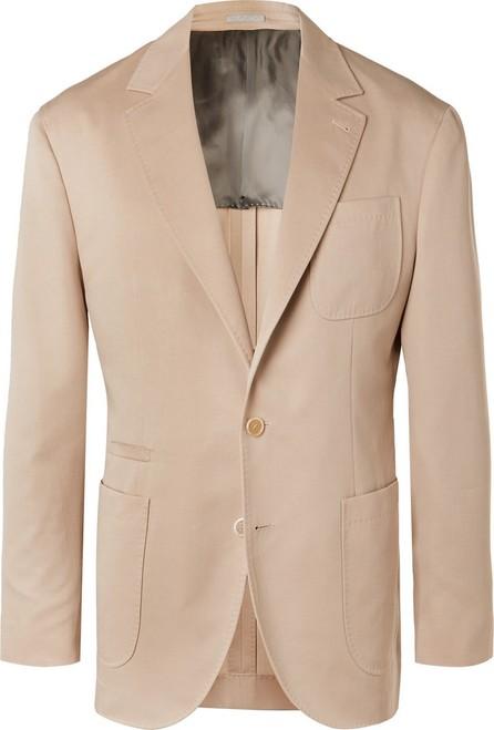 Brunello Cucinelli Beige Wool and Cotton-Blend Suit Jacket