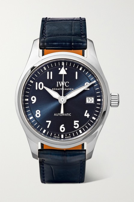 Iwc Pilot's Automatic 36mm stainless steel and alligator watch