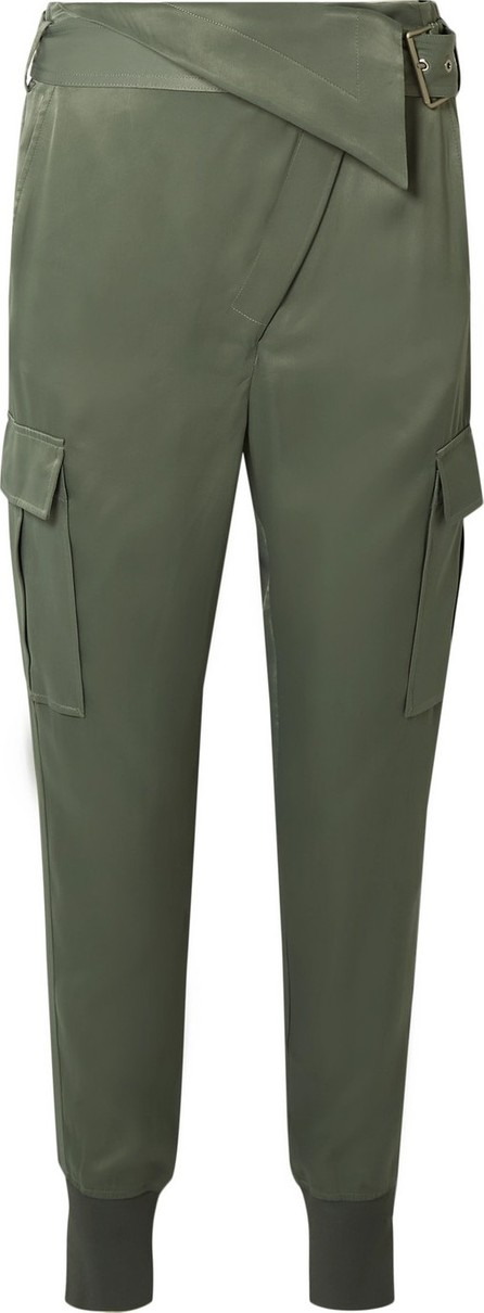 3.1 Phillip Lim Fold-over satin tapered pants