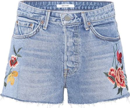 Grlfrnd Cindy embroidered denim shorts