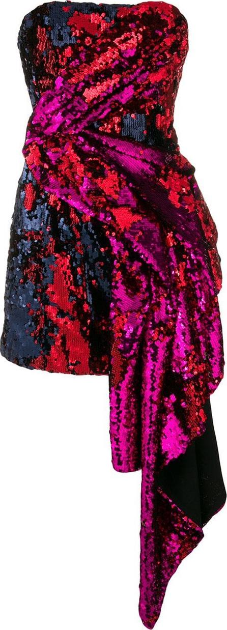 Halpern Embellished strapless draped dress