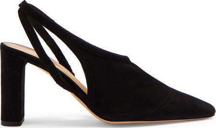 THE ROW Camil slingback suede block-heel pumps
