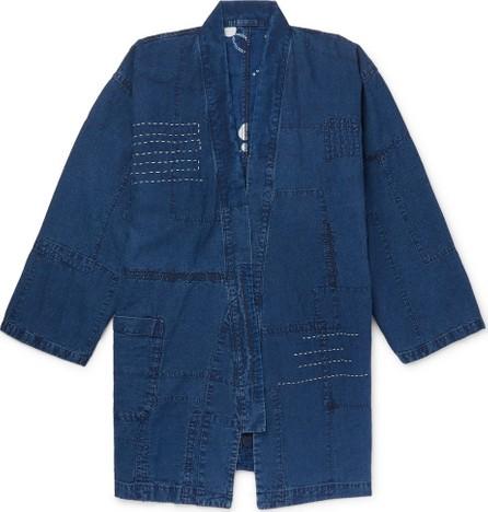 Blue Blue Japan Patchwork Embroidered Linen Jacket