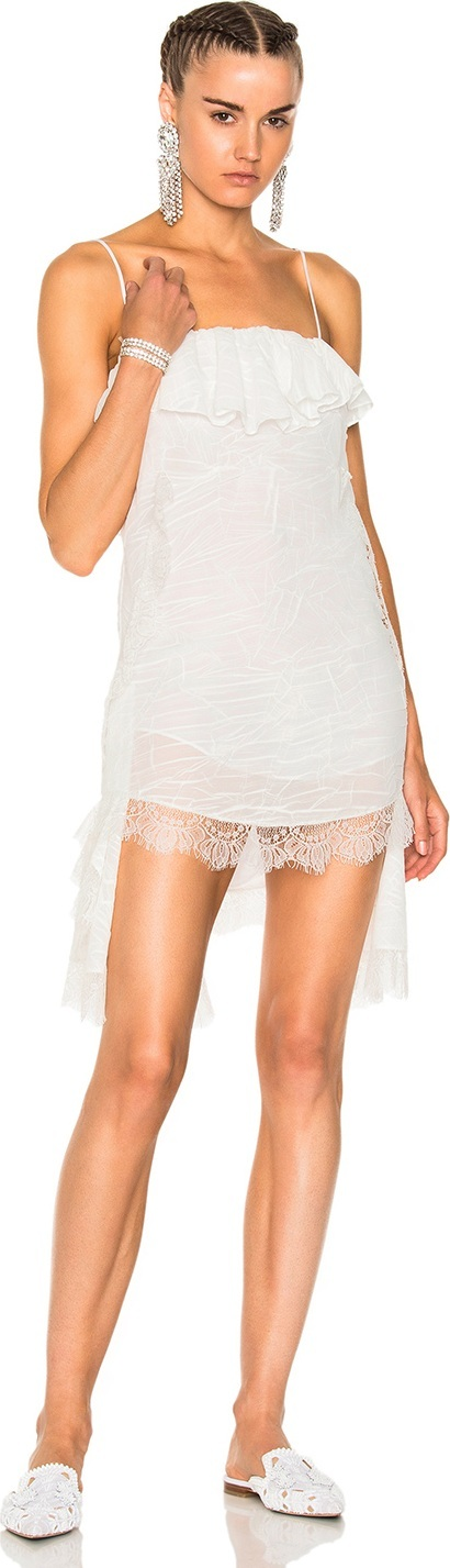 Francesco Scognamiglio Asymmetrical Lace Dress