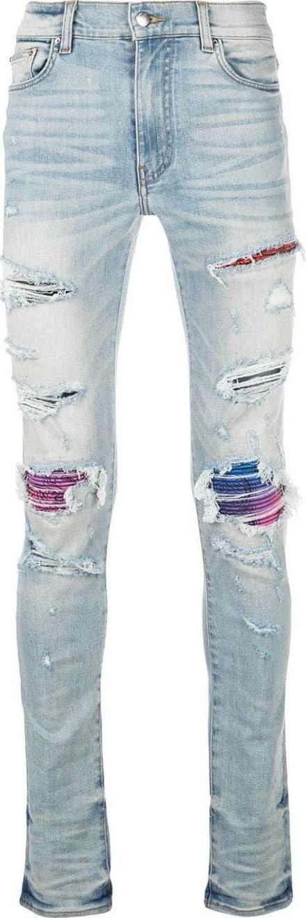 Amiri MX1 ranbow distressed skinny jeans