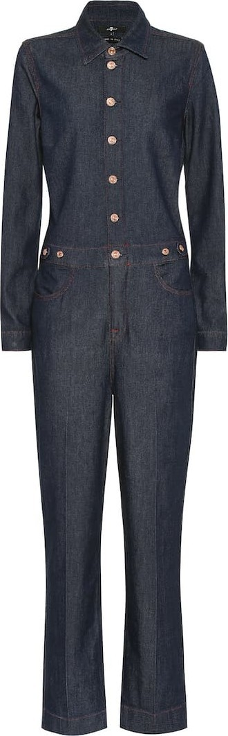 7 For All Mankind Utility stretch cotton jumpsuit