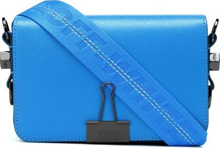 Off White Small Binder Clip leather shoulder bag