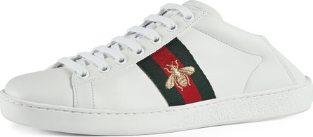 Gucci New Ace Bee Web Sneakers, White