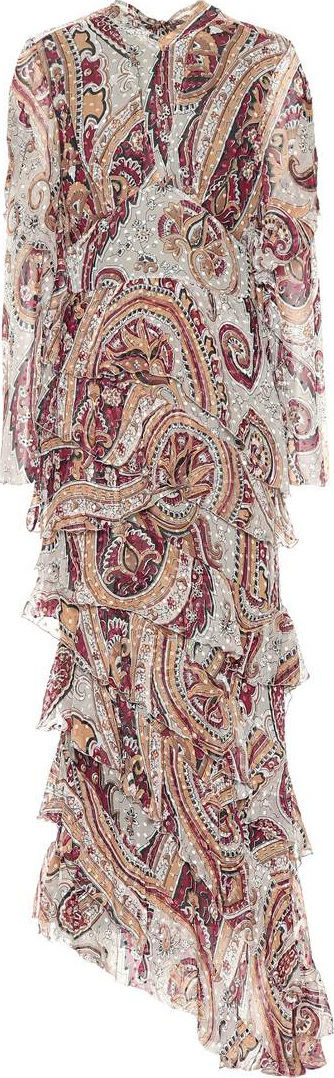 Etro Paisley silk-blend gown