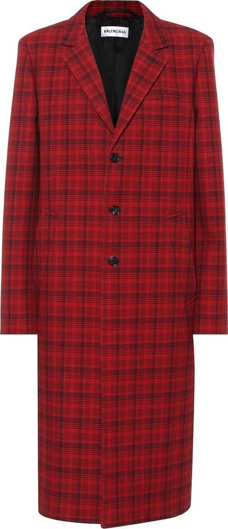 Balenciaga Checked cotton-blend coat