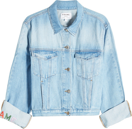 FRAME DENIM Embroidered Cuff Denim Jacket