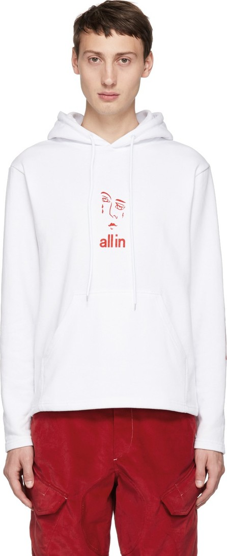 all in White Jacknave Hoodie