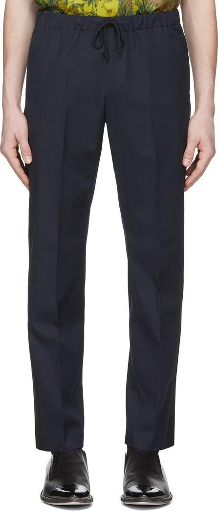 Dries Van Noten Navy Perkino Tape Trousers