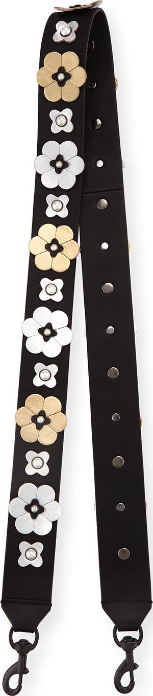 Rebecca Minkoff Floral Stud Guitar Bag Strap