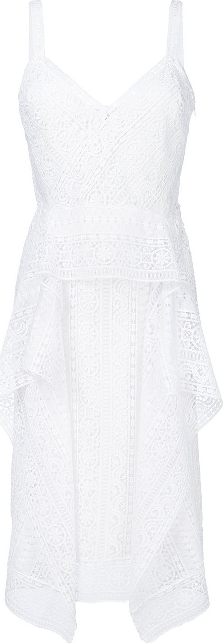 Alberta Ferretti Layered crochet dress