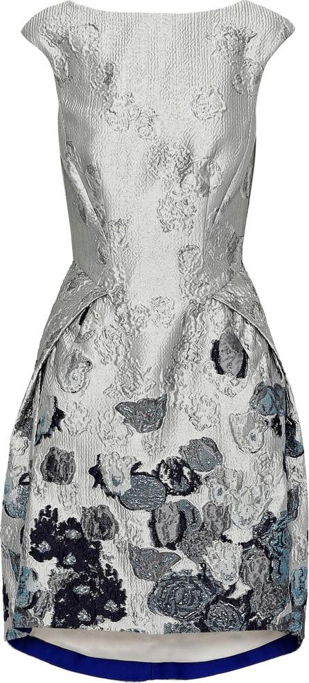 Amanda Wakeley Metallic cloqué-jacquard dress
