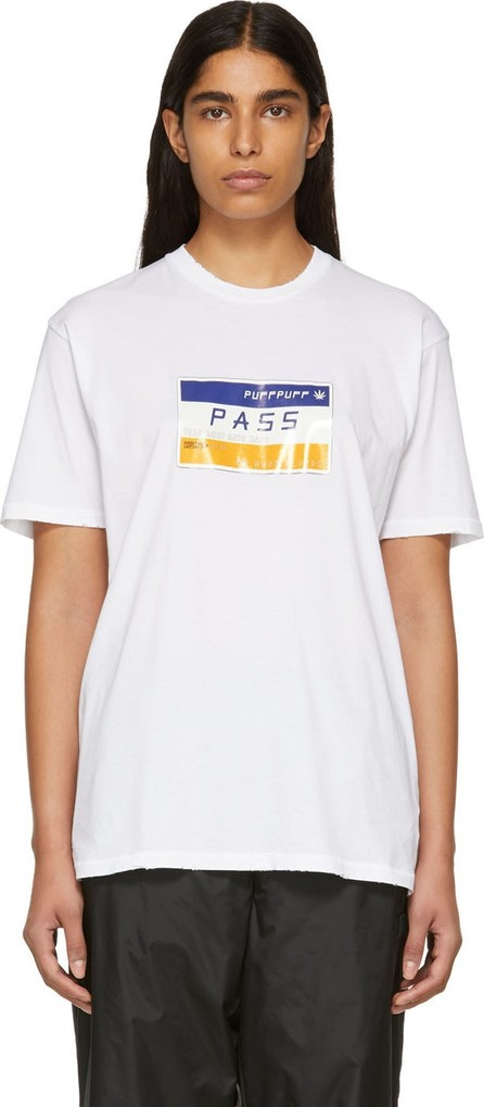 Baja East White 'Puff Puff Pass' T-Shirt