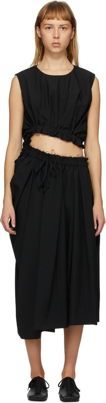 Comme Des Garcons Black Twisted Cut-Out Dress