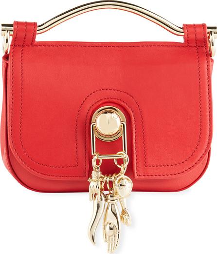Carven Leather Charm Saddle Bag