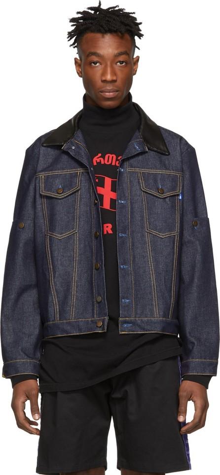 Anton Belinskiy Blue Denim Detachable Sleeves Jacket