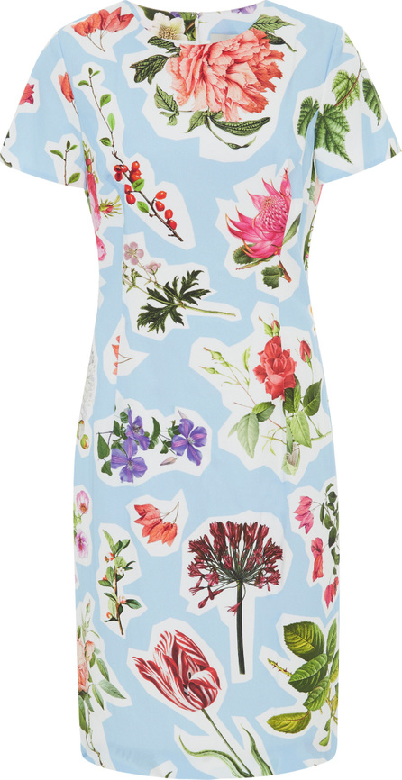 Carolina Herrera Floral-Print Stretch Cotton-Blend Mini Dress
