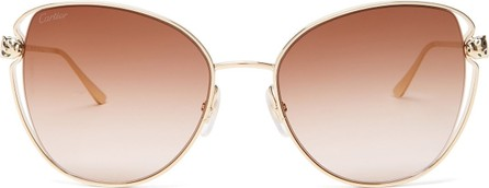 Cartier Panthére butterfly metal sunglasses