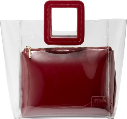 Staud Shirley Clear PVC and Patent Tote Bag