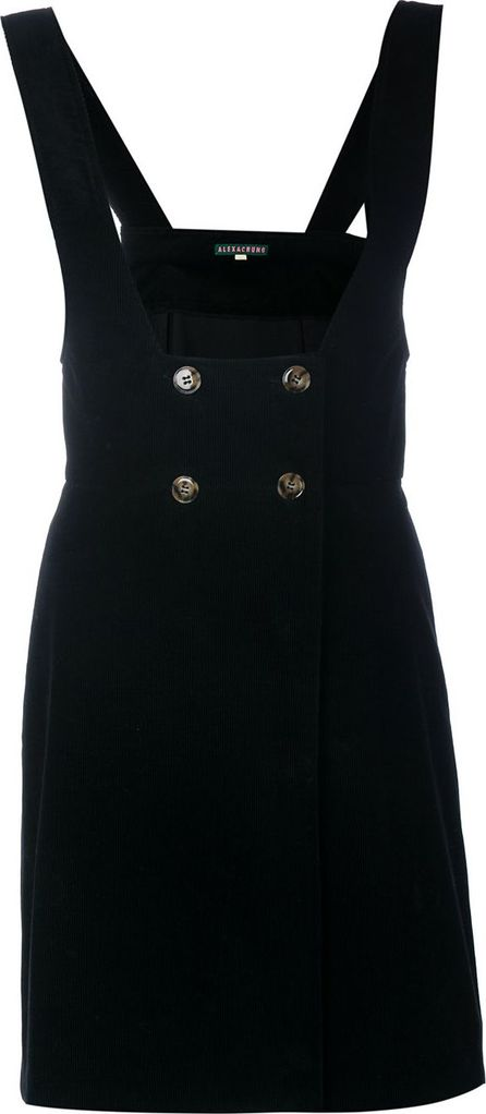 Alexa Chung pinafore black mini dress