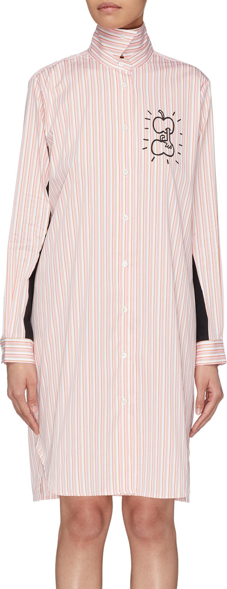 Aalto 'Grabbing Apples' graphic print stripe shirt dress