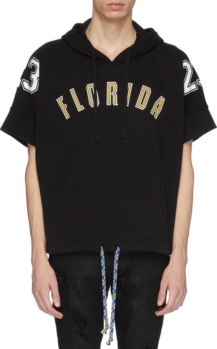 Faith Connexion 'Florida' slogan number print short sleeve hoodie