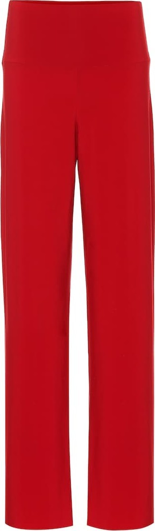 Norma Kamali Jersey high-rise wide-leg pants