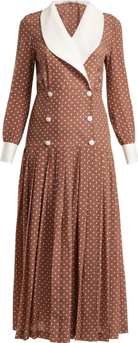 Alessandra Rich Polka-dot print silk crepe de Chine dress