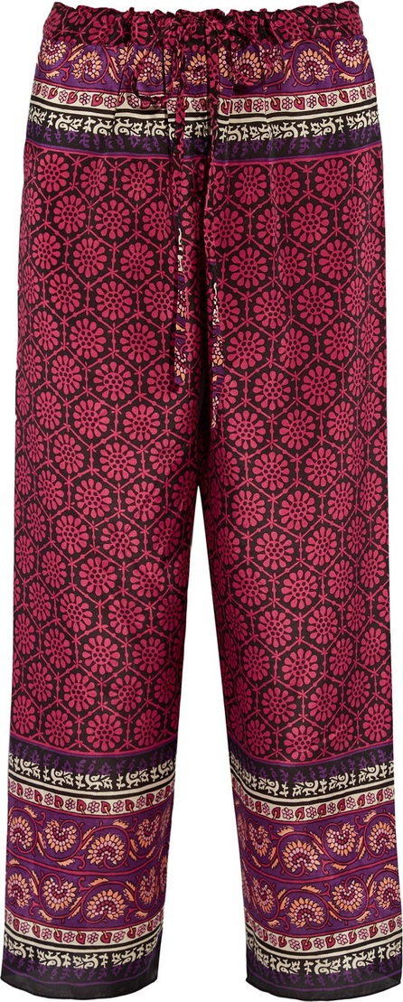 Anna Sui Printed silk and cotton-blend pants