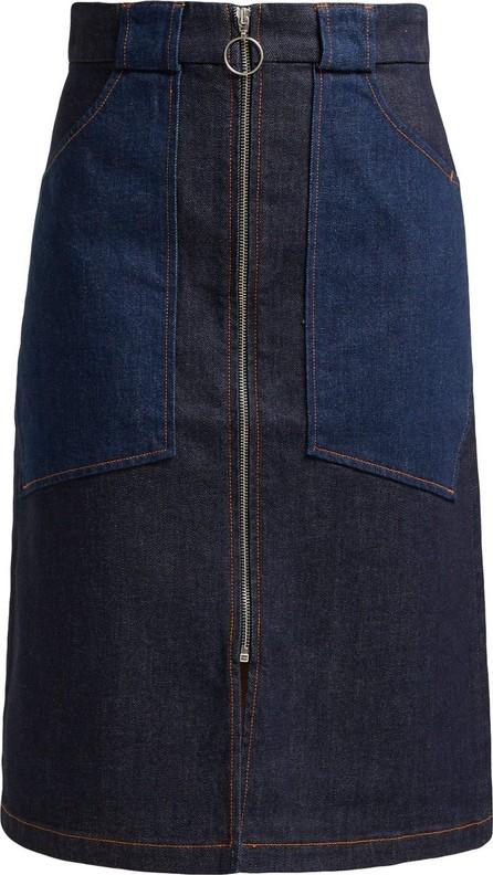 A.P.C. Joe high-rise denim midi skirt